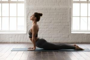 women working on yoga anxiety