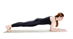 demonstration of how women should hold yoga pose