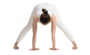 demonstration of women pose with hands flat on the ground