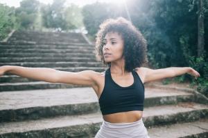 women outside doing 200-Hour Yoga Teacher Training